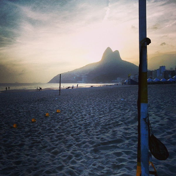 Photo taken at Praia de Ipanema by Marcello B. on 10/23/2013