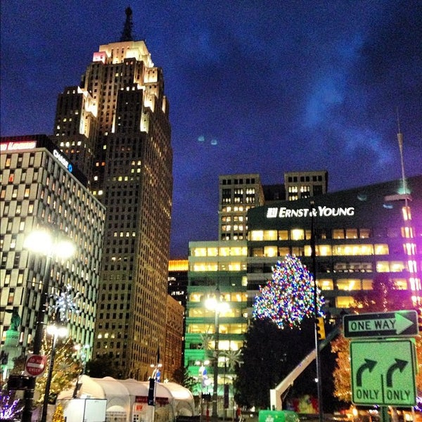 Photo taken at Campus Martius Park by Ryan F. on 11/5/2012