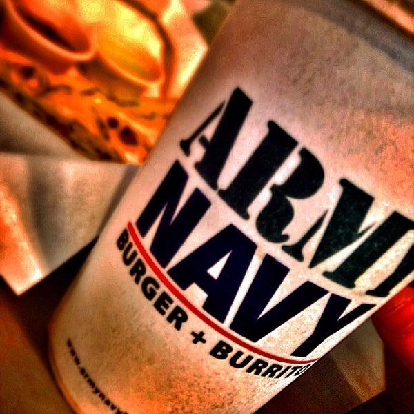 Photo taken at Army Navy Burger + Burrito by Rafael C. on 10/17/2014