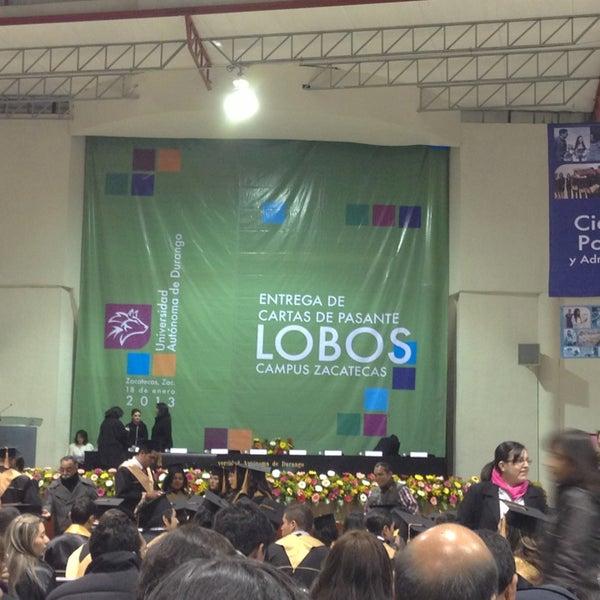 Photo taken at Universidad Autónoma de Durango Campus Zacatecas by javier m. on 1/18/2013