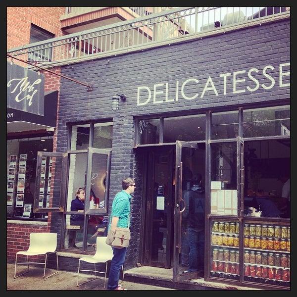 Photo taken at Mile End Delicatessen by Felix B. on 5/6/2013