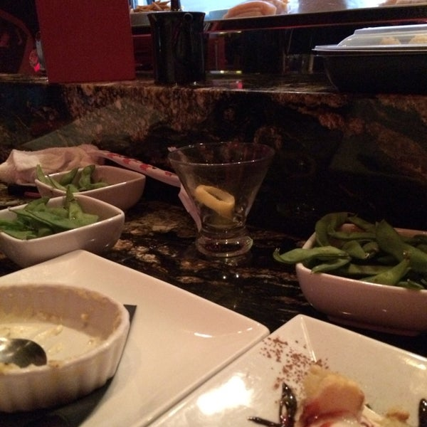 Photo taken at RA Sushi by Lexie D. on 1/22/2014