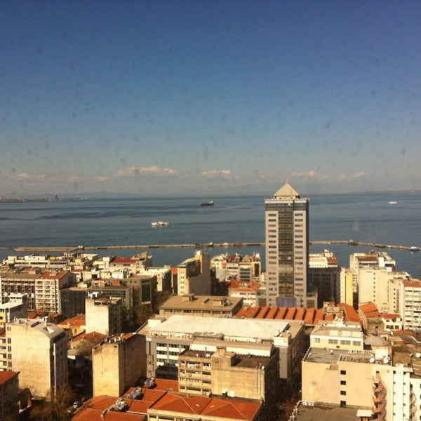 Photo taken at Hilton İzmir by Tugce U. on 3/23/2013