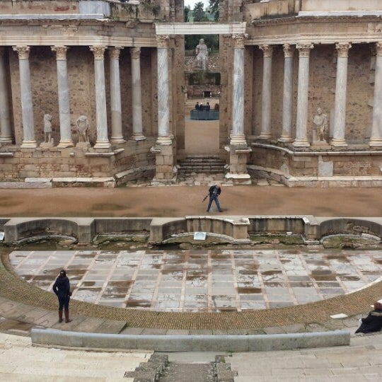 Photo taken at Anfiteatro Romano by Happy B. on 2/15/2014