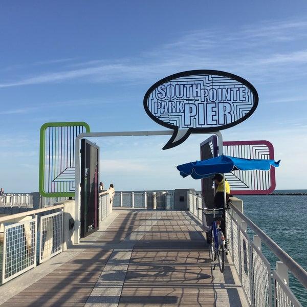 Photo taken at South Pointe Pier by Santi C. on 3/2/2016
