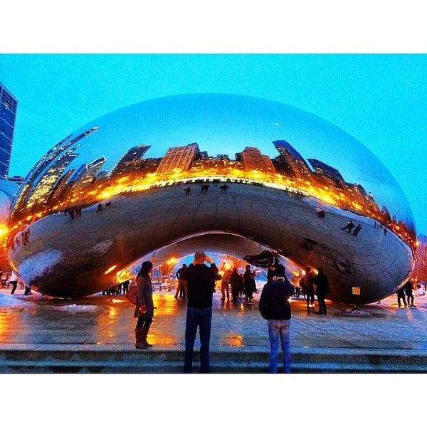 Photo taken at Cloud Gate by Liam C. on 3/8/2014