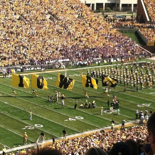 Photo taken at Kinnick Stadium by Erin R. on 9/15/2012