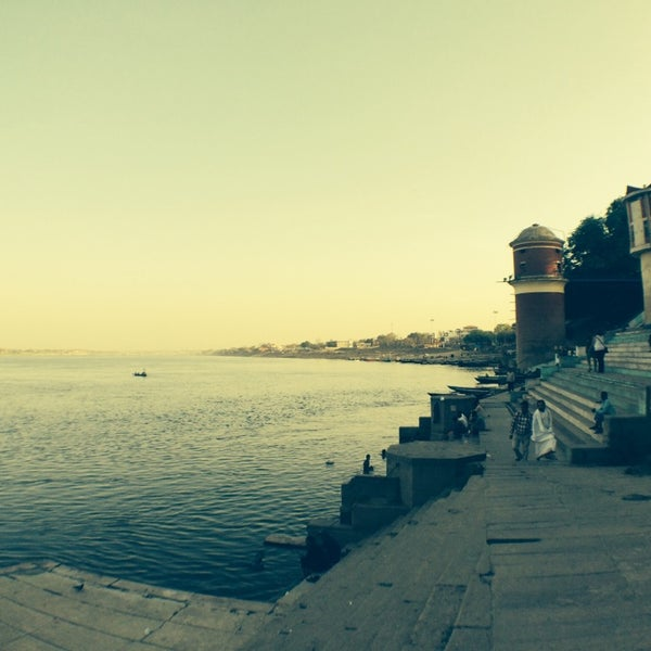 Photo taken at Dasaswamedh Ghat by Антон Т. on 4/4/2014