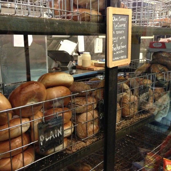 Photo taken at Murray's Bagels by John F. on 12/22/2012