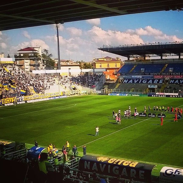 Photo taken at Stadio Ennio Tardini by Visitparma on 10/4/2015