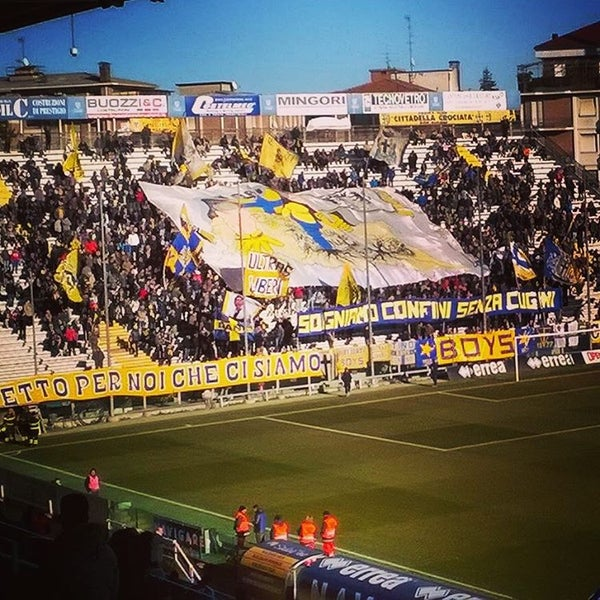 Photo taken at Stadio Ennio Tardini by Visitparma on 1/17/2016