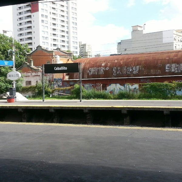 Photo taken at Estación Caballito [Línea Sarmiento] by Dave V. on 3/2/2014