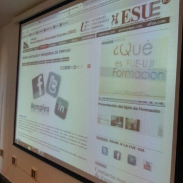 Photo taken at Universitat Jaume I (UJI) by Ximo Salas @. on 11/14/2013