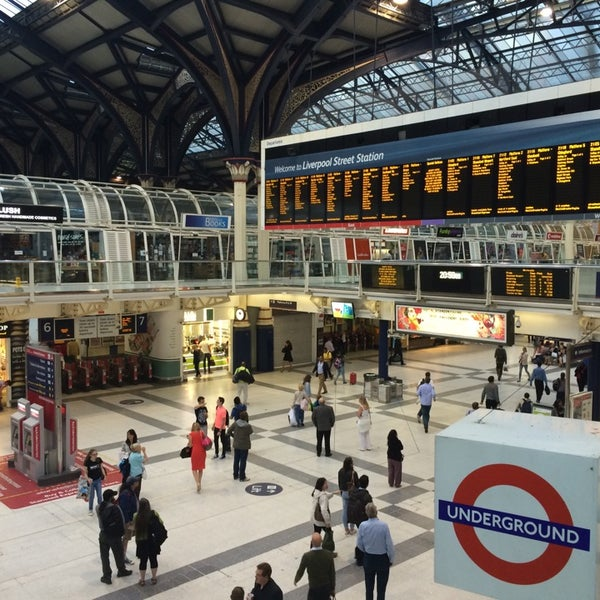 Photo taken at London Liverpool Street Railway Station (LST) by Martin O. on 7/1/2014