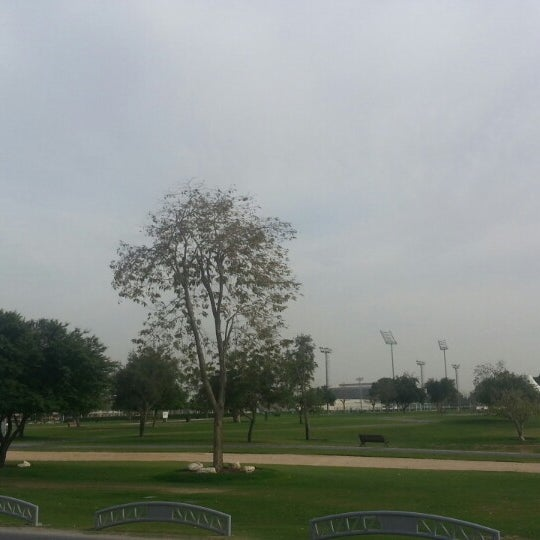 Photo taken at Aspire Park by Alaa O. on 3/10/2014