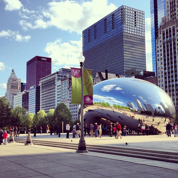 Photo taken at Cloud Gate by Anna P. on 5/12/2013