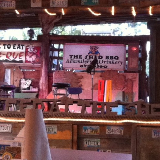 Photo taken at The Shed Barbeque and Blues Joint by Mary B. on 7/30/2012