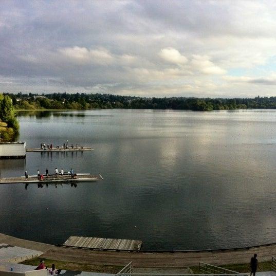 Photo taken at Green Lake Boathouse by Erik B. on 8/2/2012