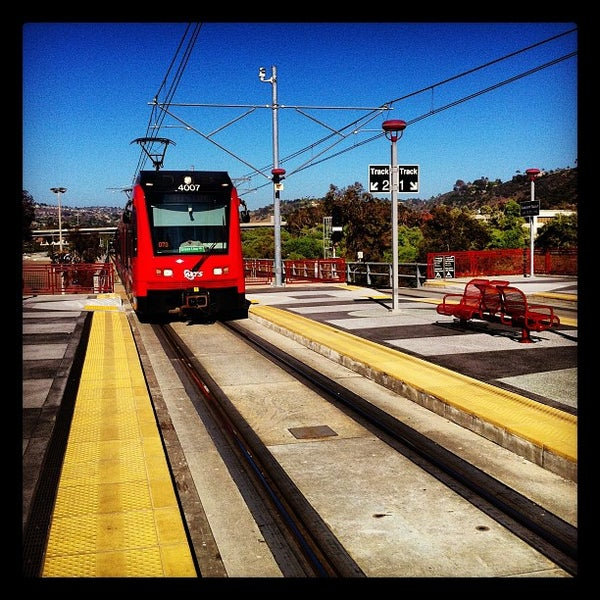 Mission Light Rail: Qualcomm Stadium Trolley Station