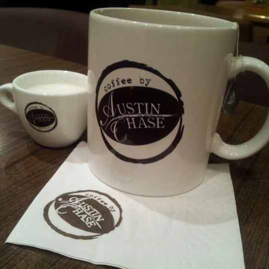 Photo taken at Austin Chase Coffee by Angela O. on 6/19/2012