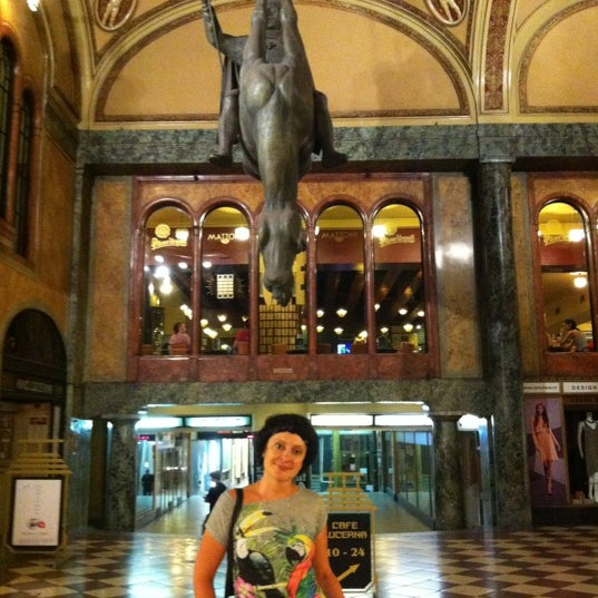 Photo taken at Palác Lucerna by Sergey T. on 8/22/2012