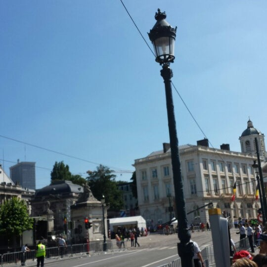 Photo taken at Paleizenplein / Place des Palais by Sad S. on 7/21/2013