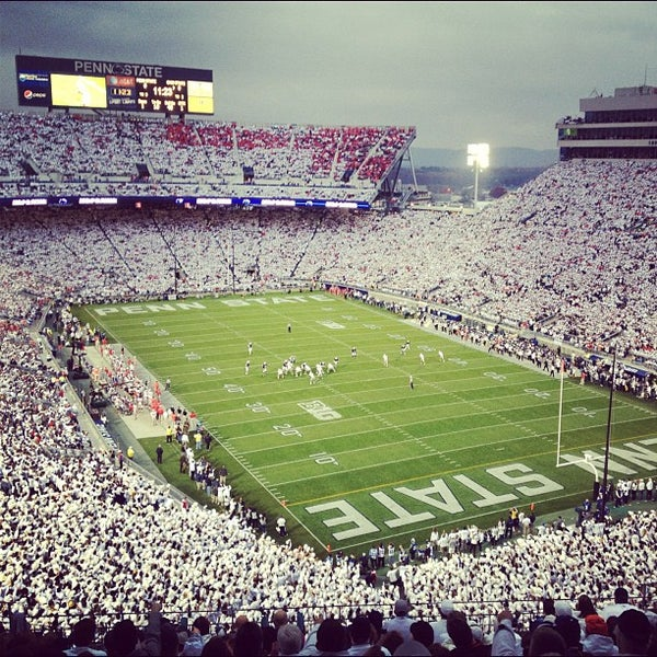 Photo taken at Beaver Stadium by Chris B. on 10/27/2012
