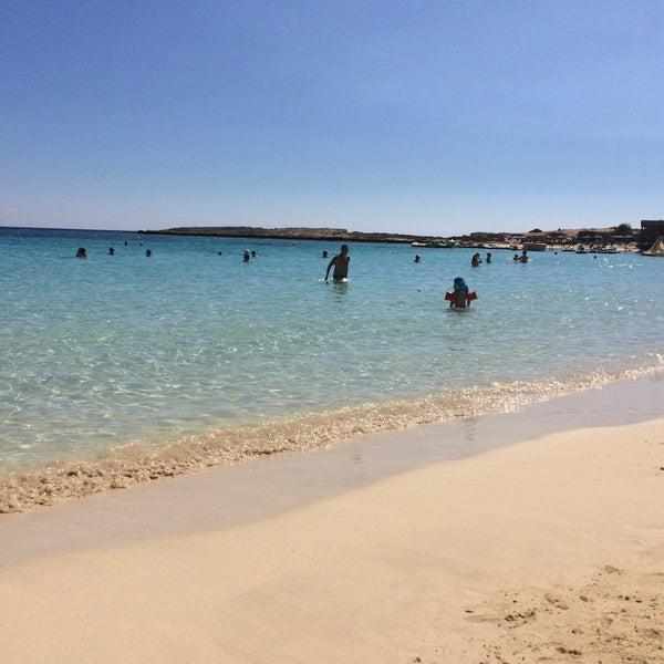 Photo taken at Makronissos beach by Juliya A. on 9/27/2016