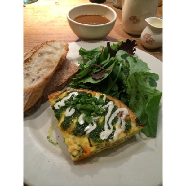 Photo taken at Le Pain Quotidien by Alexandra M. on 3/29/2014
