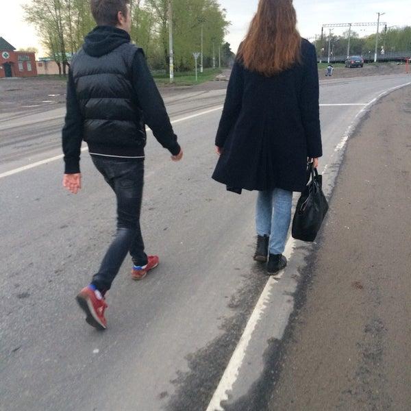 Photo taken at Платформа Хорошово by Marina K. on 5/4/2015