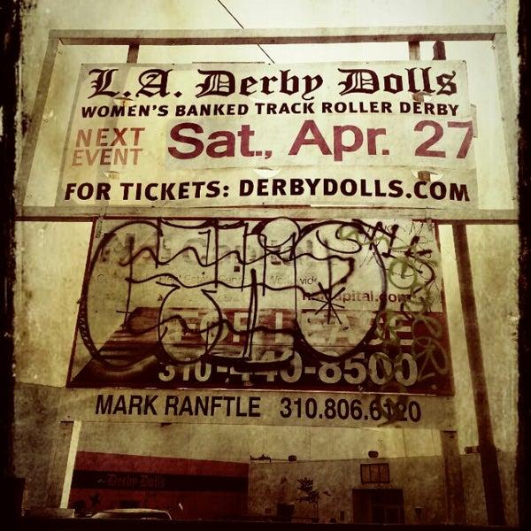 Photo taken at Doll Factory (L.A. Derby Dolls) by Matthew K. on 4/28/2013