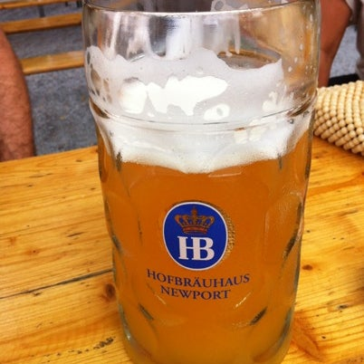 Photo taken at Hofbräuhaus Newport by Adam T. on 8/4/2012