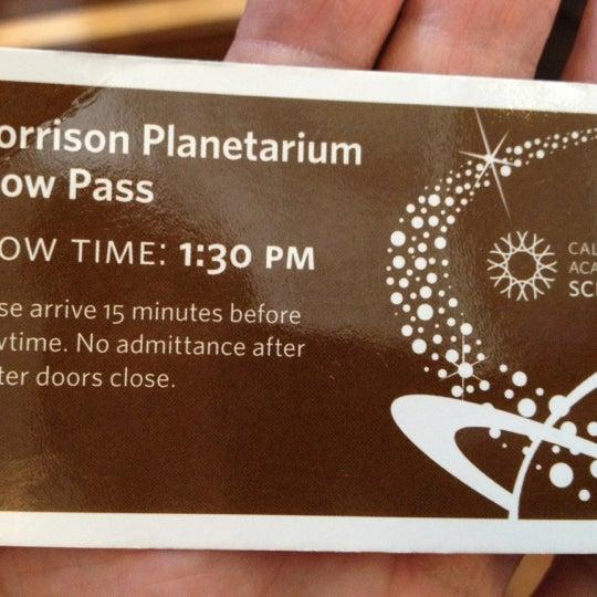 Photo taken at Morrison Planetarium by Alfred C. on 5/26/2012