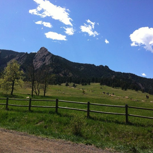 Photo taken at Chautauqua Park by Aaron O. on 4/21/2012