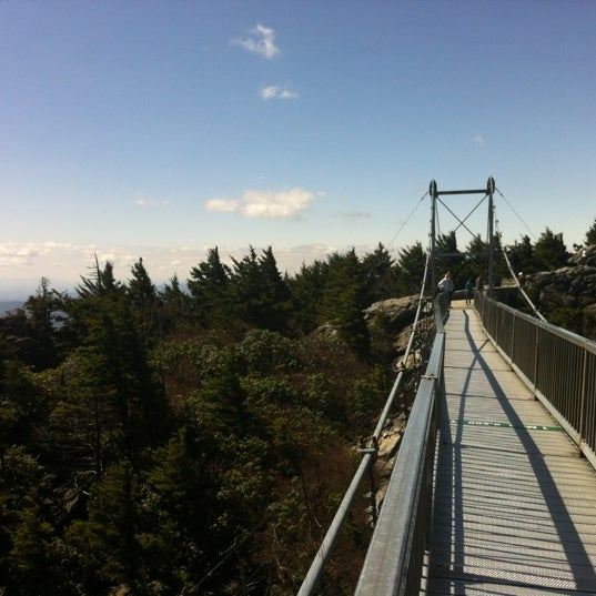 Photo taken at Grandfather Mountain by Federico A. on 4/6/2012