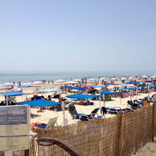 Photo taken at Praia do Barril by Nuno A. on 8/20/2012