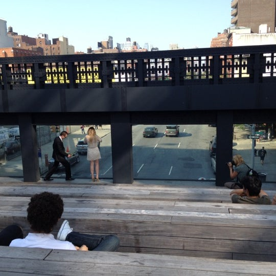 Photo taken at High Line 10th Ave Amphitheatre by Dennis V. on 7/17/2012