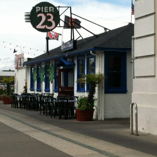 Photo taken at Pier 23 Cafe by Dan K. on 4/25/2012