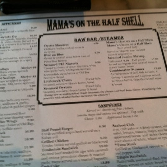Photo taken at Mama's on the Half Shell by Darryl S. on 5/6/2012
