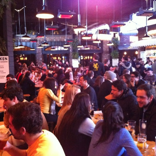 Photo taken at The Biergarten at The Standard by Jenny W. on 2/26/2012