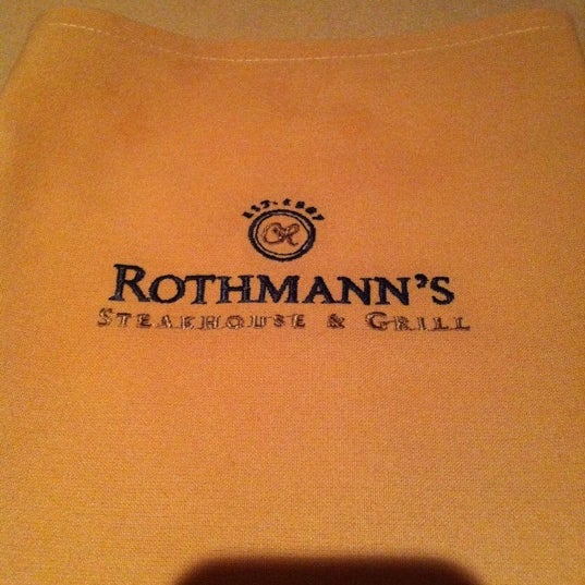 Photo taken at Rothmann's Steakhouse by Gabrielle S. on 10/21/2011