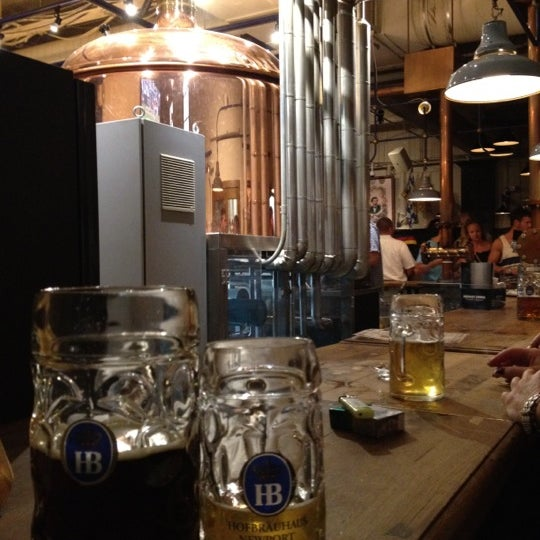 Photo taken at Hofbräuhaus Newport by Graeme D. on 7/8/2012