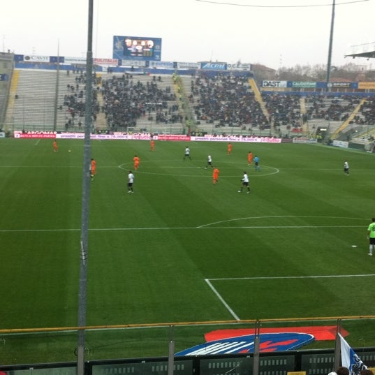 Photo taken at Stadio Ennio Tardini by Miguel O. on 11/20/2011