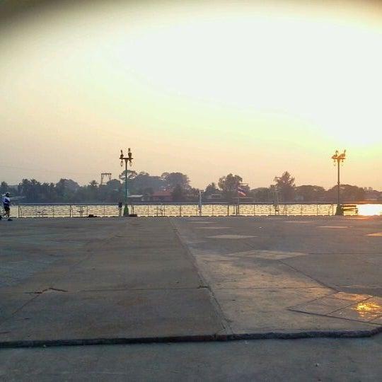 Photo taken at เข่ือนเรียงหิน by Ampere Z. on 3/1/2012