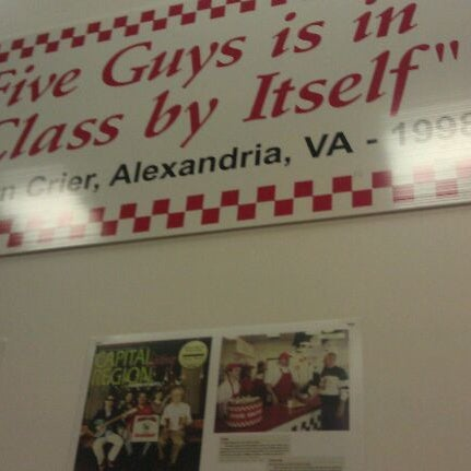 Photo taken at Five Guys by Julian S. on 8/15/2011