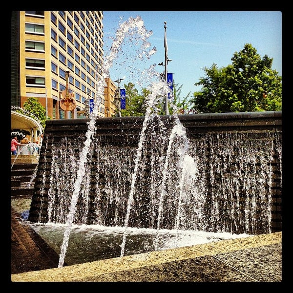 Photo taken at Campus Martius Park by Jonathan on 5/16/2012