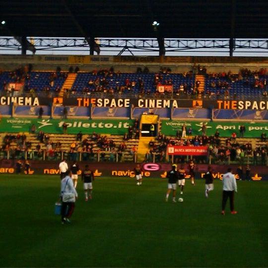 Photo taken at Stadio Ennio Tardini by Giovanna on 3/17/2012