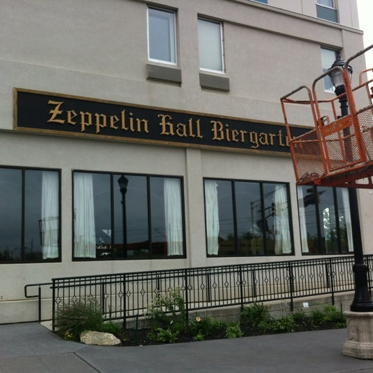 Photo taken at Zeppelin Hall Biergarten by Clark G. on 6/12/2012