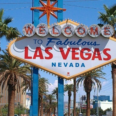 Photo taken at Welcome To Fabulous Las Vegas Sign by Kendra W. on 8/7/2012