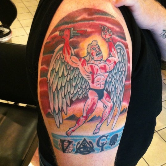 Photo taken at Let It Bleed Tattoo by Kevin H. on 11/28/2011